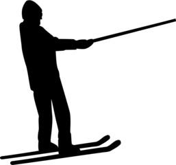 Ski Lift Silhouette