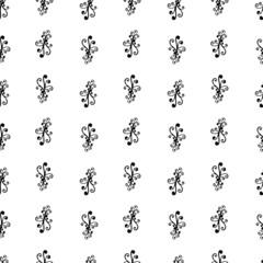 Vector seamless monochrome pattern. Modern stylish texture
