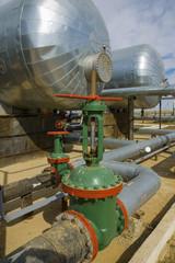 Foto auf Acrylglas Bestsellers Green oil valve