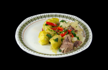 Mutton and cabbage