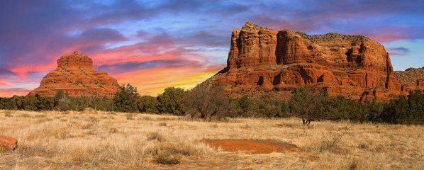 Wall Murals Arizona Sunset Vista of Sedona, Arizona