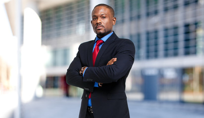 Black male manager portrait