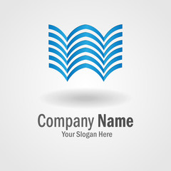 Abstract blue logo for building company or business