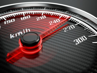 Wall Mural - High speed concept - Car speedometer