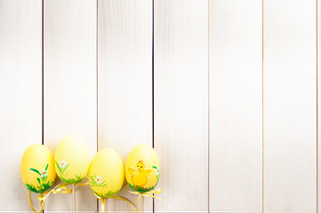 Easter eggs on a stick.