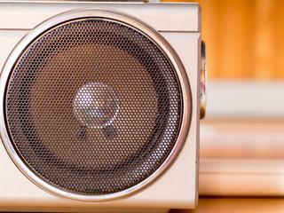 Speaker on a radio cassette recorder