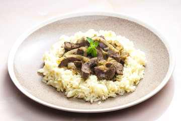 pork kidney with rice