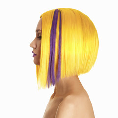 yellow hair color woman