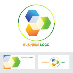 Corporate business cube logo
