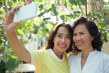 Selfie with mother