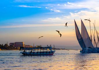 Egyptian voyage on the Nile.