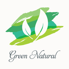 Green nature. Elements for design. Vector illustration 3.