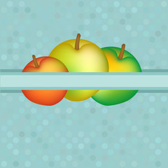 Vector background with red and yellow apples