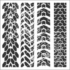 Tire tracks - vector set