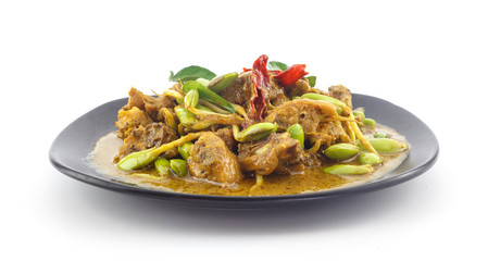 Stir fried riang parkia seed with chicken