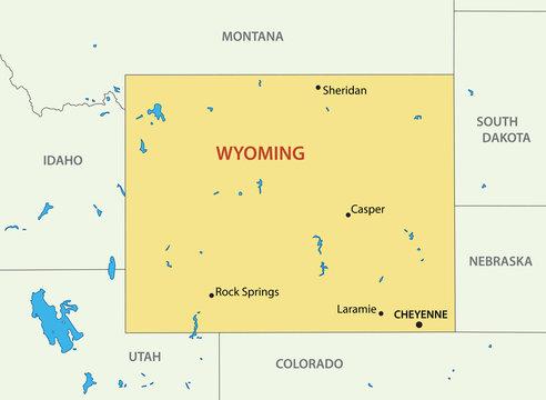 Wyoming - vector map