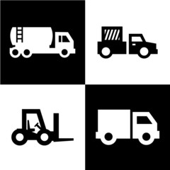 truck icons set great for any use. Vector EPS10.
