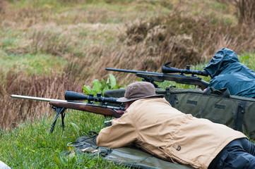 rifle target shooting