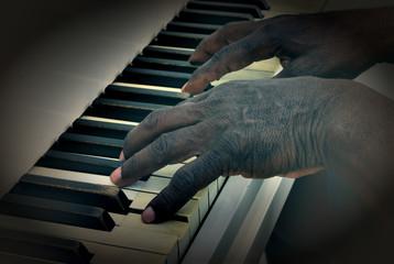 Senior man Plays Piano