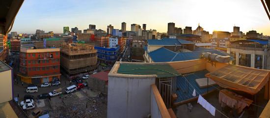 fisheye view of Nairobi