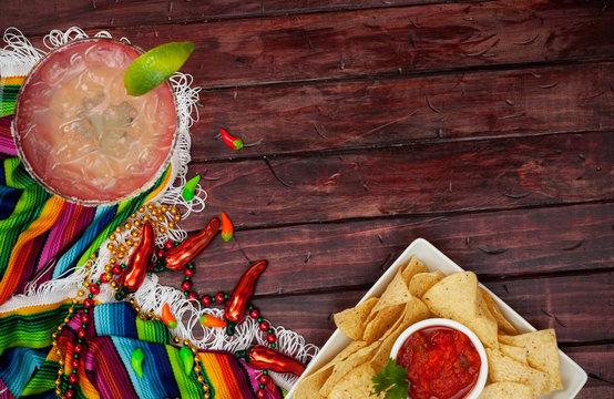 Background: Cinco De Mayo Celebration With Margarita