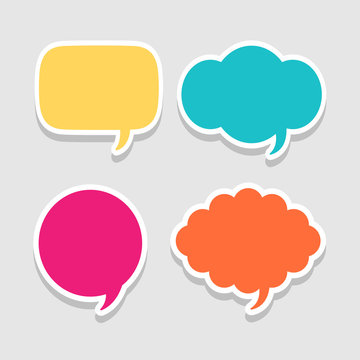 Speak bubble message icon great for any use. Vector EPS10.