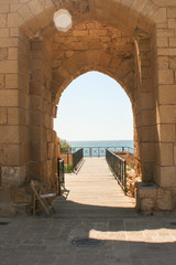 Beautiful view from Caesarea in Israel