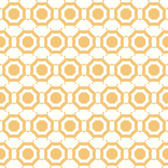 Symmetrical yellow geometric shapes vector textile backdrop. Can