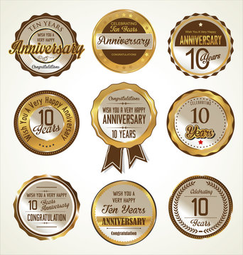 Anniversary labels collection, 10 years