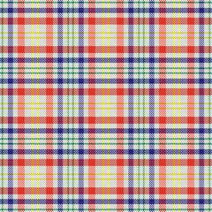Colorful plaid tartan vector seamless pattern