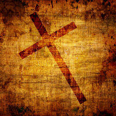 Christianity representation with the symbol