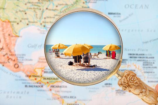 Beach in Florida USA