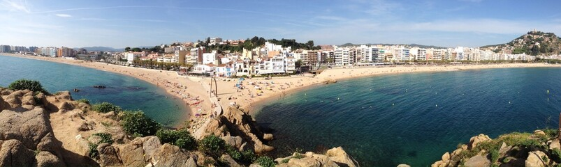 Panoramic view of Blanes in Girona, Spain