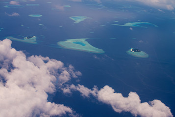 Amazing aerial view of Maldivian Atoll - Maldives Islands