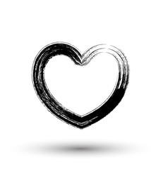 Retro Grunge Heart Frame