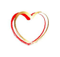 Golden Grunge Heart