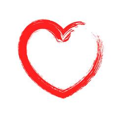 Red Grunge Love Heart