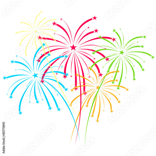 """Fireworks vector on white background"" Stockfotos und ..."