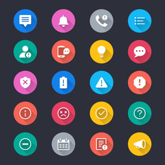 Information and notification simple color icons