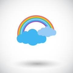 Rainbow single icon.