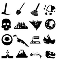 Geology icons set