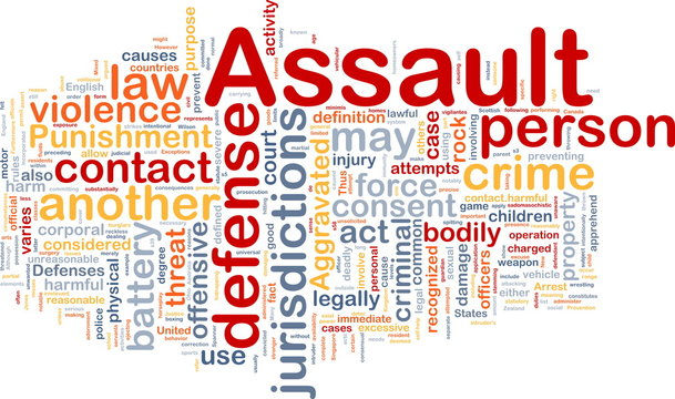 Assault background concept wordcloud