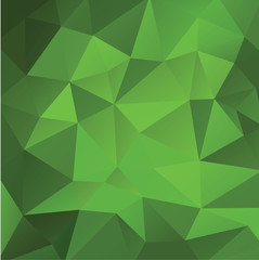 green background low poly vector