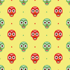 Mexican masks pattern