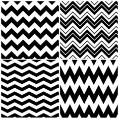 Set of vector chevron patterns