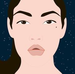 eastern face girl