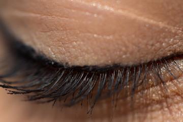 Closed eyelid close-up