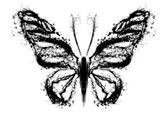 Staande foto Vlinders in Grunge Abstract butterfly