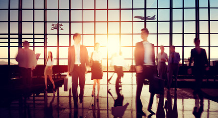 Airport Business Travel Walking Commuting Concept
