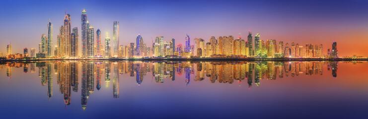 Photo sur Aluminium Dubai The beauty panorama of Dubai marina. UAE